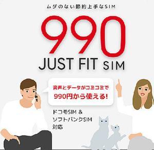 0-SIMからb-mobileの990ジャストフィットSIMへ乗り換え