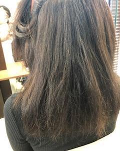 ビビり毛から約半年、梅雨前なのでRe縮毛矯正