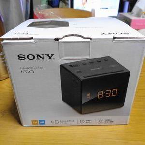 SONY ICF-C1 目覚ましラジオ時計だよー