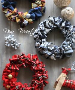 ファブリックリース FabricWreath Dear