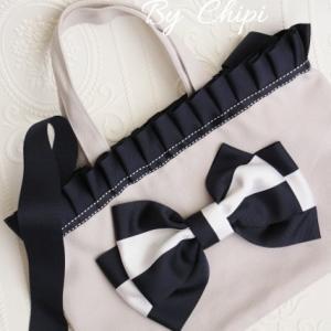 2Way Frill Ribbon Bag By Chipi