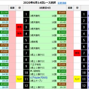 中央競馬 6/14(日) SP指数