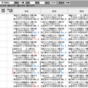 地方競馬 9/25(金) 三峰山特別 SP指数