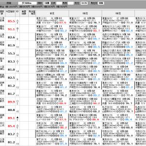 中央競馬 11/29(日) ジャパンカップ SP指数