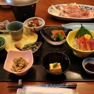 新潟県 六日町温泉 いろりあん 夕食編。