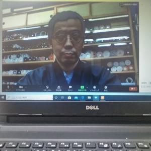 zoomで初めて呉服屋さんのお話し会開催しました。初めてのオンラインきもの講座です