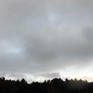 予報より 早く晴間が 広がった