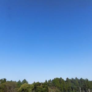 今日もまた すっきり晴れて 気温夏