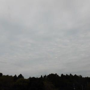 曇り空 夕方頃に 雨となる