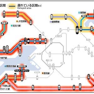 【2019/08/15】台風の影響(JR運行状況)