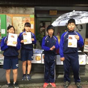 入船茶屋の立川第1中学校職場体験 3日目 2019年10月30日(水)