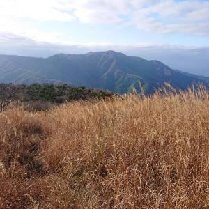野坂岳遠景(夕暮山付近より)