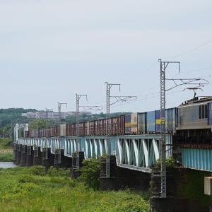 真夏日の貨物列車EF510-513