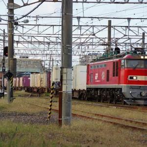 駅に到着する貨物EF510-22