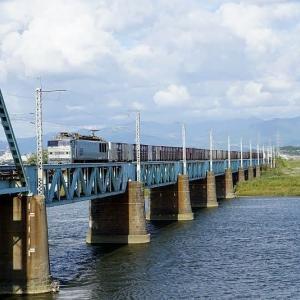 橋上に停車中EF510-509