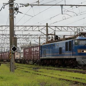 駅に到着する貨物EF510-511
