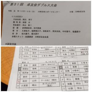 第31回川崎卓友会ダブルス大会