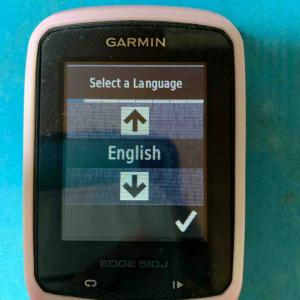 ガーミン510Jが日本語表示しなくなった件