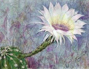 サボテンの花(水彩画)