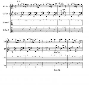 「Sketch Ⅰ のタブ譜」