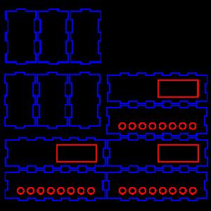 S88 8ch用アクリルケースの面付けができた