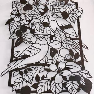 切り絵~鳥・うさぎ・花~
