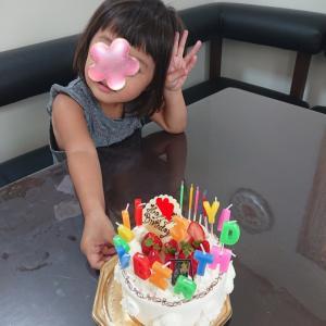 祝3歳★バースデーケーキ★帝塚山マダム御用達のポアール店★