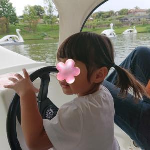ハーベストの丘★初めてのスワンボート★3歳0ヶ月の娘★