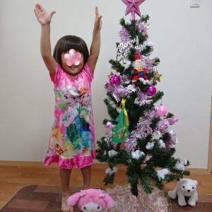 もう飾るの?我が家のクリスマスツリー★3歳0ヶ月の娘★