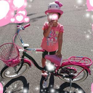 補助輪なし自転車乗れた★3歳10ヵ月4日目の娘★