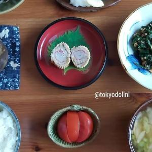 Salmon karaage, daikon miso soup, surimi omelet, spinach dressed in peanuts, beansprouts dressed in sesame and rice. #tokyodollnlcookfishmain #Japanesefood #japanesecuisine #washoku #japanseten #lekkerkoken #lekkereten #washokulovers #salmon #karaage #misosoup #surimi #confortfood #healthyeating #おうちごはん #teishoku #japanesetraditional #zalm #kibbeling
