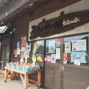 山口県萩市、道の駅うり坊の郷katamata(片俣)で、特産のトマトソフトが結構トマトマしくてうまし。
