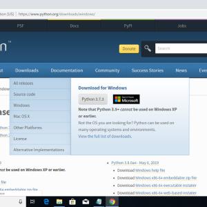Python 3.7.3(for Windows)のインストールについて