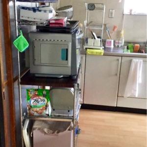 【じっかたづけ】感無量…実家に帰ってみると、台所のラックをちゃんと使ってくれていました!
