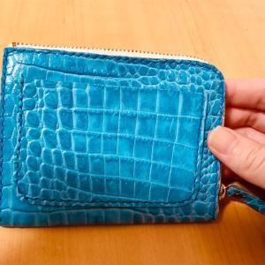 【メルカリ】あたらしく買った、ターコイズ色の革財布が気に入っています^^