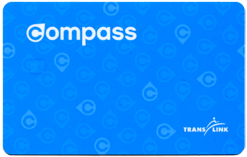 バンクーバーのバスパス、コンパスカードの話