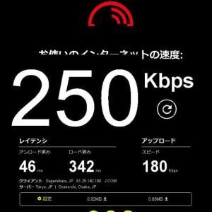J-COMモバイルの低速モード