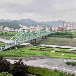 雨の渡良瀬川