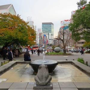 上野公園のもみじと彫刻