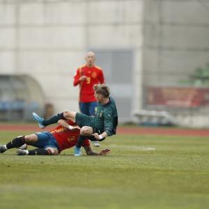U19スペイン対U19イタリア(於:Las Rozas)