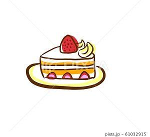 ショートケーキ カット イラスト