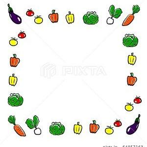 野菜 イラスト 飾り枠 フレーム