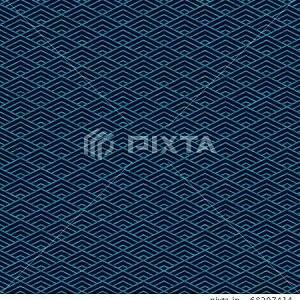 和柄背景 菱青海模様 藍色