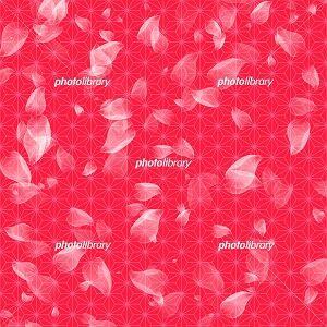 花びら 和柄模様 イラスト背景