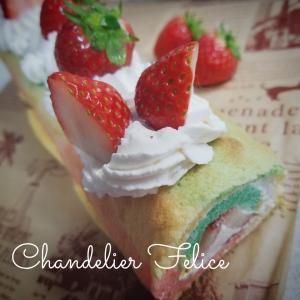 可愛い〰️米粉レインボーシフォンロールケーキ作りー!