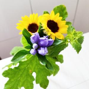 花を飾って、、、