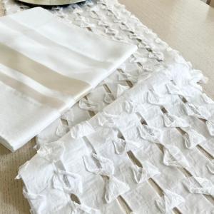 縫わずに簡単カーテン♪ニトリのすそ上げテープとタッセルが便利♡