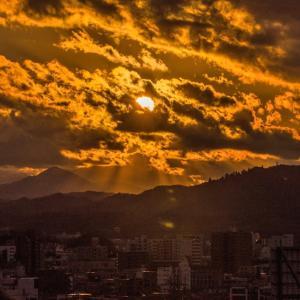12月28日、ひよどり山からのダイヤ 撮れず・・・(;_;)