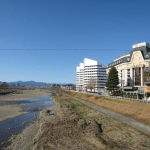 1月9日、八王子大和田橋からの風景