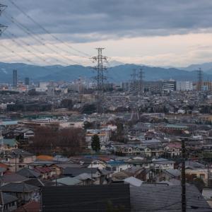 1月19日、空一面曇り~高台からの風景